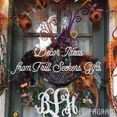 Boo! Fabulous Halloween decor ideas from Frillseekers Gufts in Destin, Florida. Heidi LoCicero, designer. Http://www.frillseekersgifts.com  - https://flipagram.com/f/eXKJAy6IVM