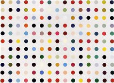 Damien Hirst, Albumin, Human, Glycated, 1992.  Oil and synthetic polymer on canvas. 210 x 290 cm. UBS art collection.  #Damien_Hirst #Painting