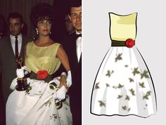1961Elizabeth Taylor for: Butterfield 8 Dress designed by: Christian Dior