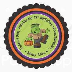 24 Halloween Favors Stickers Personalized  by sosweetpartyshop, $6.00