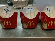 """{""""I'm lovin' it...} Here is a fun little word sorting activity using letter combinations that make the long vowel i sound!  The kids will read the words on each """"fry"""" and then decide in which box to put the fry."""