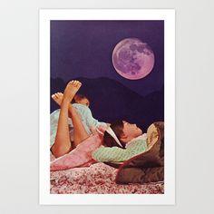 SLUMBER Art Print by Beth Hoeckel Collage