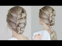Easy Knotted Updo & Ponytail Tutorial - YouTube
