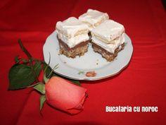 Prajitura cu nutella, crema si frisca - Bucataria cu noroc Nutella, Pie, Desserts, Food, Torte, Tailgate Desserts, Cake, Deserts, Fruit Cakes