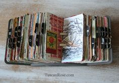 Art journal inspiration. Rambling Rose. Typepad blog.  Scrapodex b