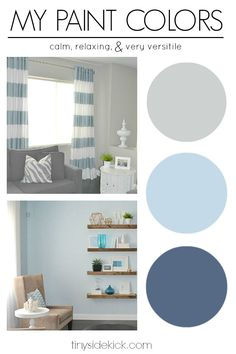 Revealed! My Paint Colors: Greige with shades of blue. This is the number one question I get about my home decor.