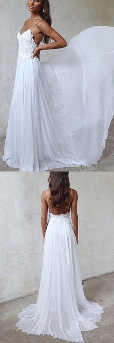 2018 Wedding Dress #2018WeddingDress, Wedding Dress A-Line #WeddingDressALine, Chiffon Wedding Dress #ChiffonWeddingDress, Beautiful Wedding Dress #BeautifulWeddingDress, Wedding Dresses 2018 #WeddingDresses2018, Custom Wedding Dress #CustomWeddingDress