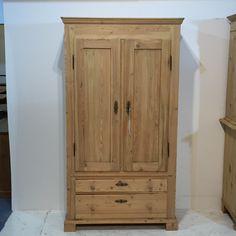 Tall, Slender, Danish Antique Pine Cupboard (T0356C)