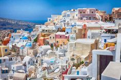 Santorini, Greece | 17 Impossibly Colorful Cities You'll Want To Visit Immediately