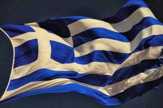 The blue of the Greek Flag symbolizes the blue sea and sky above Greece; the white represents the white clouds and waves of the sea. Ancient Greek Art, Ancient Greece, The Wonderful Country, Greek Flag, Places In Greece, Greek Warrior, Greek Beauty, Cyprus News, Greek Culture