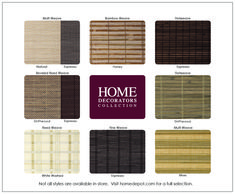 Home Decorators Collection Cut To Width Driftwood Brown Flatweave Bamboo Roman Shade 29 In