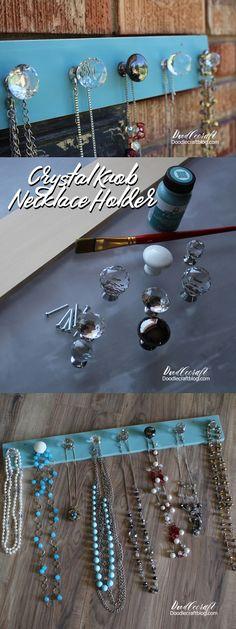 Doodlecraft: Crystal Knob Necklace Holder!