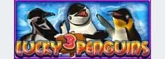 Casino slot game design with 3D characters - funny penguins
