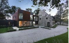 house renovation modern additions | Contemporary Addition Enhancing Old Stone House Design with Symbolic ...