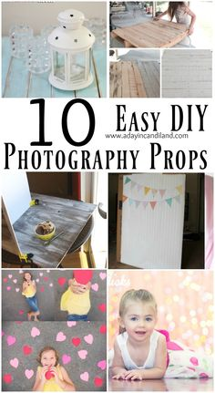 10 Easy DIY Photography Props that you can make in a day. Photos, DIY, Photography, Pictures, Backdrops, Do it yourself, Creative, Crafts, fun.
