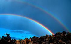 Two rainbows, pretty cool!  I live in central Florida and occasionally there is a double rainbow like this.  Never saw one in all my years in Michigan.