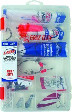 Lazer Sharp Pier/Jetty Saltwater Tackle Kit, 30 pieces, plus reusable plastic fishing box - http://bassfishingmaniacs.com/?product=lazer-sharp-pierjetty-saltwater-tackle-kit-30-pieces-plus-reusable-plastic-fishing-box