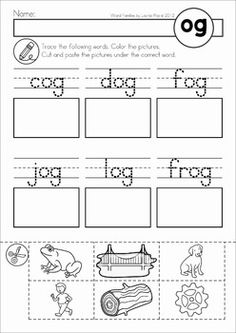 CVC Word Families No Prep Cut & Paste Worksheets. Great phonics word work ideas for beginning and struggling readers and English language learners. Blends Worksheets, Cut And Paste Worksheets, Lkg Worksheets, Reading Worksheets, Word Family Activities, Cvc Word Families, Phonics Words, Cvc Words, English Riddles