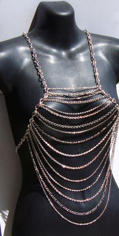 Silver Body Vest/Harness Necklace by Ashlee by ashleecollection, $84.00