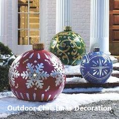 Everyone wants to have a beautiful decoration at Christmas. And outdoor Christmas decorations are not difficult to make. Outdoor Christmas decorations are easy to do with the many ingredients that … Noel Christmas, Christmas Projects, Winter Christmas, All Things Christmas, Christmas Lights, Country Christmas, Simple Christmas, Christmas Porch, Primitive Christmas