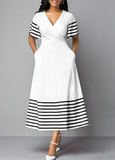 Cheap white Dresses online for sale Latest African Fashion Dresses, Women's Fashion Dresses, Pedi Traditional Attire, South African Traditional Dresses, Xhosa Attire, Shweshwe Dresses, Necklines For Dresses, African Dress, Dress Patterns