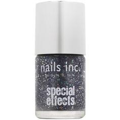 Nails Inc. 3D Glitter Nail Polish ($17) ❤ liked on Polyvore