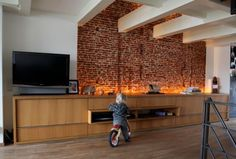 How to integrate exposed brick walls into your interior décor living-room-brick-wall