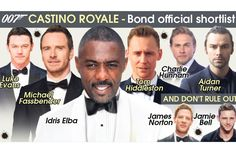 Official shortlist of British actors in the pipeline to play James Bond released by movie bosses