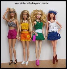 Pink Crochê: Acessórios - Linha Boneca Barbie