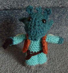 PDF File Hand crocheted Star Wars Doll Greedo Amigurumi Crochet Pattern $4