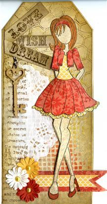 Prima Julie Nutting Doll Stamp - Doll With Bolero Sweater
