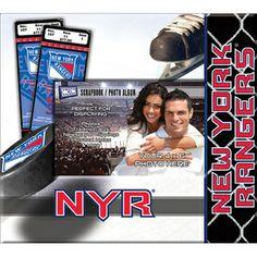 That's My Ticket New York Rangers Scrapbook New York Scrapbooking, Photo Album Scrapbooking, Scrapbook Pages, Rangers News, New York Rangers, W 6, Ticket, Preserve, Sports