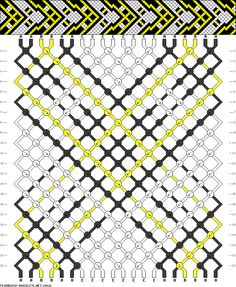 Friendship bracelet pattern 29626 -  20 strings, 3 colours