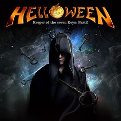 """Helloween - Keeper of The Seven Keys: Part 2 A little bit of Power Metal. This album is amazing. So the idea was just to create a very nice epic image of a """"Keeper"""" (wizard) with the magical seven. Metal Music Bands, Power Metal Bands, Metal Band Logos, Rock Band Posters, Rock Album Covers, Heavy Metal Art, Extreme Metal, Gothic Metal, Metal Albums"""