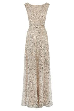 Gorgeous sequin evening gown. I need more excuses to dress up formally. :-):