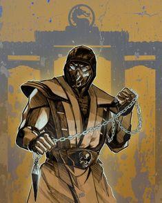 Escorpion Mortal Kombat, Claude Van Damme, Cool Anime Pictures, Ninja Art, Wolf Wallpaper, Cultura Pop, Art Sketches, Game Art, Character Art