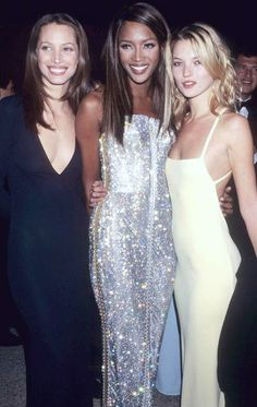 intothegloss: Christy Turlington, Naomi Campbell, and Kate Moss at the 1995 Costume Institute Gala