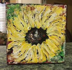Sunflower painting, sunflower, floral painting, fall art, fall decor by AshleyBradleyArt on Etsy https://www.etsy.com/listing/531067984/sunflower-painting-sunflower-floral