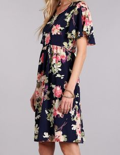 Navy Floral Lucy Dress $32
