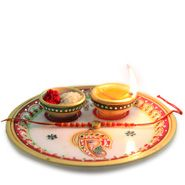 Traditional Thali With Rakhi to Delhi