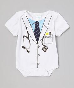 Look what I found on #zulily! Mon Cheri Baby White 'Dr. Cutie' Bodysuit - Infant by Mon Cheri Baby #zulilyfinds