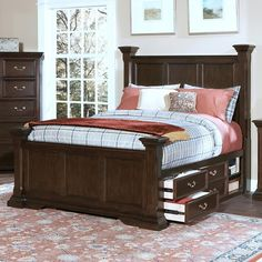 queen+size+captains+bed | ... Bedroom > Captain's Bed > New Classic Timber City Queen Captain's Bed