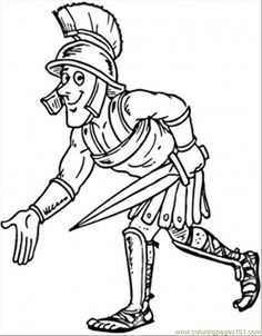 Ancient Roman coloring page