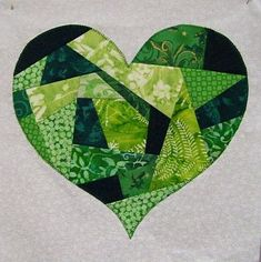 """= free pattern = """"I Left My Heart in Ireland"""" block by Laura Roberts for McCall's Quilting. Featured at Quilt Inspiration: Free patterns for St. Patrick's Day"""