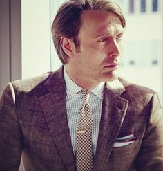 Mads Mikkelsen -- a closer look at that plaid suit from GQ