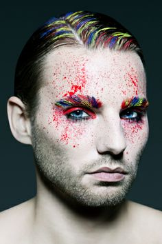"""""""Handsome Male With Creative Make up"""" Ok, right."""