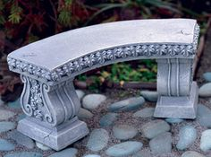 Fairy Garden Curved Bench: Classically styled miniature bench to accent a corner of your patio or to tuck under a tree. Give your garden friends a place to relax and enjoy their beautiful garden home! Ideas Dormitorios, Curved Bench, Brindille, Fairy Garden Furniture, Mini Fairy Garden, Fairy Gardening, Bonsai Garden, Garden Plants, Miniature Fairy Gardens
