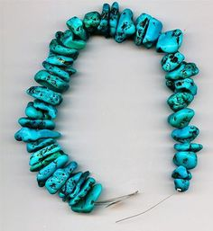 Natural Mexican Turquoise Loose Nugget Beads 126 Grams Total Weight 37 Beads
