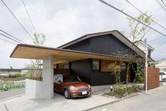 vega blogの画像 Metal Barn Homes, Metal Building Homes, Pole Barn Homes, Building A House, Car Porch Design, Sweden House, Main Gate Design, Pole Barn House Plans, Carport Designs