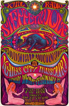 Steppenwolf in Kansas City, Feb 1969.  One of my favorites, from my board Concert Posters.